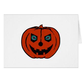 EVIL LANTERN (Halloween Jack-O-Lantern) ~.png Greeting Card