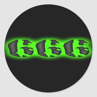 Evil Mark of the Beast | Halloween 666 Round Sticker