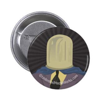 Evil Mastermind Crystal 2 Inch Round Button