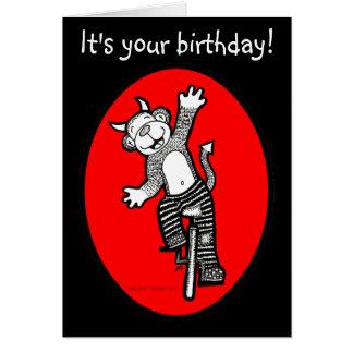 Evil Monkey It's Your Birthday Shenanigans Card