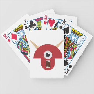 Evil Monster Head Bicycle Playing Cards