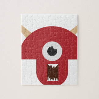 Evil Monster Head Jigsaw Puzzle