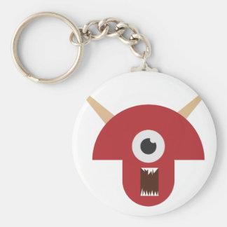 Evil Monster Head Keychain