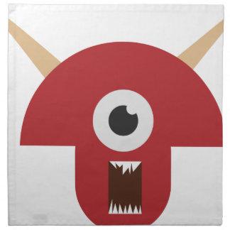 Evil Monster Head Napkin
