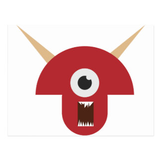 Evil Monster Head Postcard