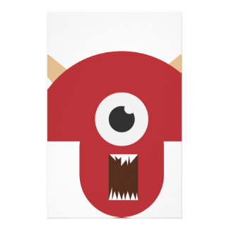 Evil Monster Head Stationery
