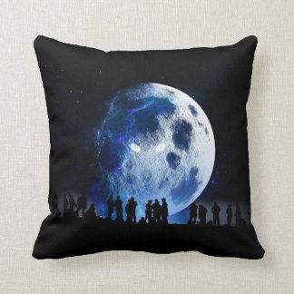 Evil Moon Throw Pillow
