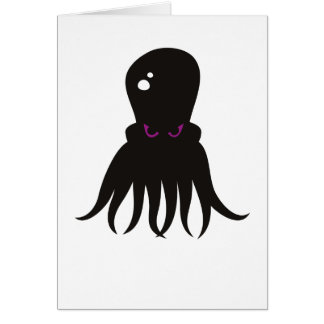 Evil Octopus Greeting Card
