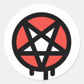 Evil paint round sticker