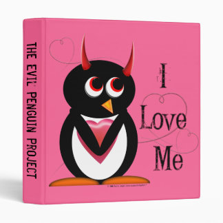 "Evil Penguin™ Back to School Binders! 1"" Size Binder"