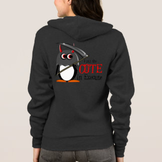 Evil Penguin Cute in Execute Hoodie