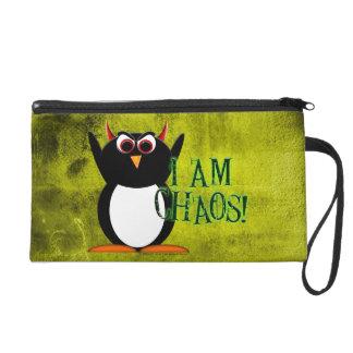 Evil Penguin I Am Chaos Wristlet Purse