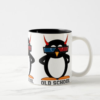 Evil Penguin™ Old School 3D Mug