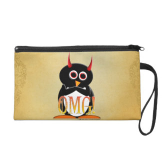 Evil Penguin OMG Funny wristlet