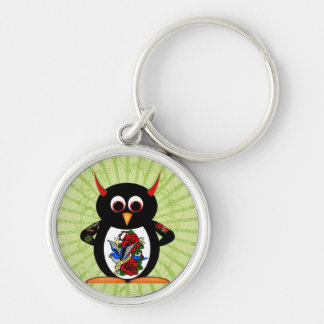 Evil Penguin Tattoo Keychain