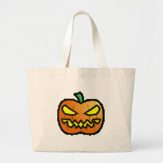 Evil Pixel Pumpkin Jumbo Tote Bag