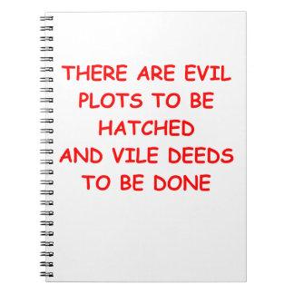 evil plot notebook