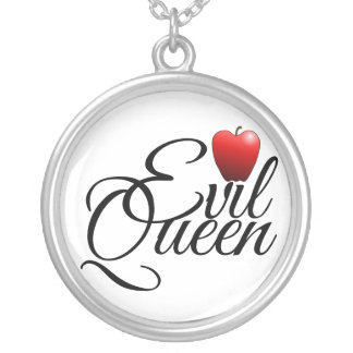Evil Queen Small Apple Silver Plated Necklace