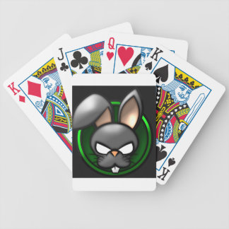 Evil Rabbit Cartoon Bicycle Playing Cards