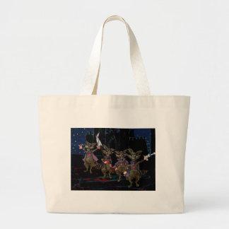 Evil Raccoons Large Tote Bag