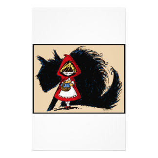 Evil Red Riding Hood Stationery Paper