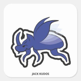 Evil Rhino Beetle White | Jack Kudos Square Sticker