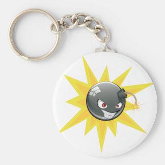 Evil Round Bomb 2 Basic Round Button Keychain