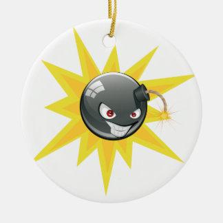 Evil Round Bomb 2 Ceramic Ornament