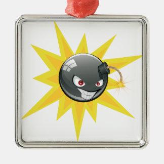 Evil Round Bomb 2 Metal Ornament