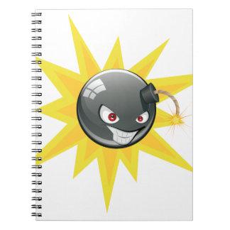 Evil Round Bomb 2 Spiral Notebook