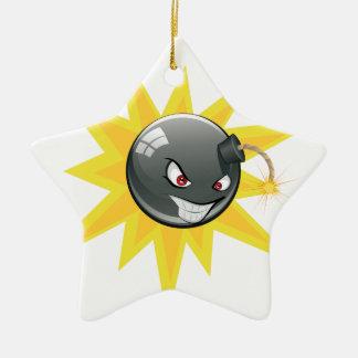 Evil Round Bomb Ceramic Ornament