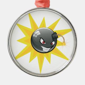 Evil Round Bomb Metal Ornament
