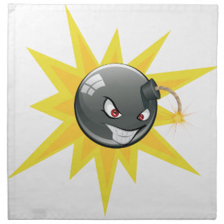 Evil Round Bomb Napkin
