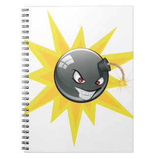 Evil Round Bomb Notebook