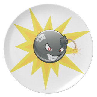 Evil Round Bomb Plate
