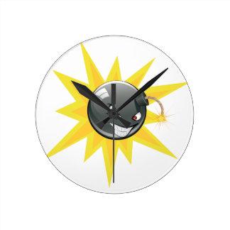 Evil Round Bomb Round Clock