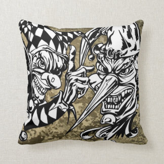 Evil, Scary Clowns Pillow