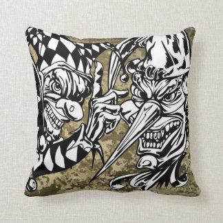 Evil, Scary Clowns Throw Pillows