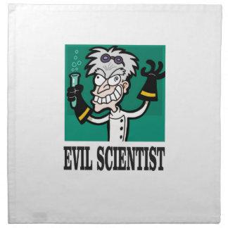 evil scientist napkin