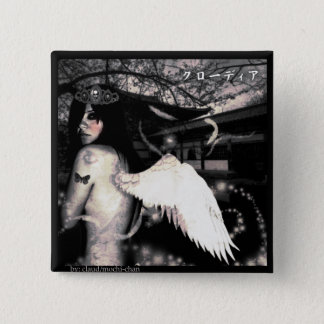 Evil Side Angel 2 Inch Square Button