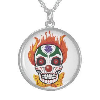 Evil Skull Clown Necklace - Costume Creatures
