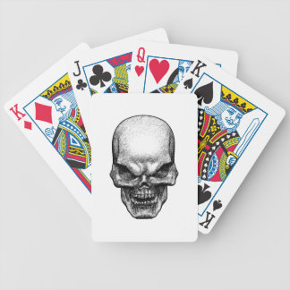 Evil Skull Face Bicycle Playing Cards