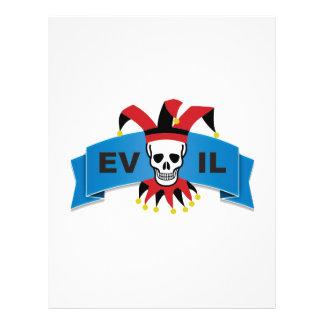 evil skull logo customized letterhead