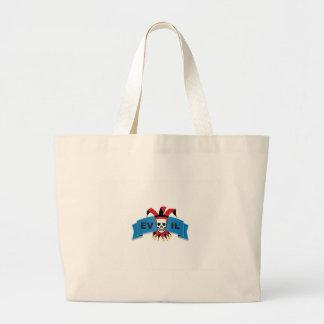 evil skull logo large tote bag