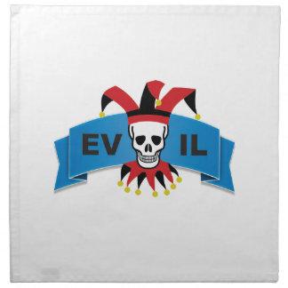 evil skull logo napkin