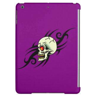 Evil Skull Tribal Tattoo Purple Cover For iPad Air