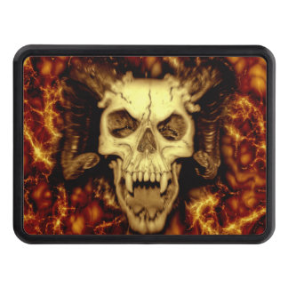 Evil Skull With Fangs Printed Trailer Hitch Cover