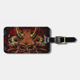 Evil Skulls Luggage Tag