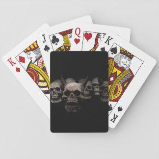 Evil Skulls Playing Cards