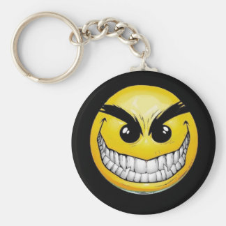 evil smile keychain